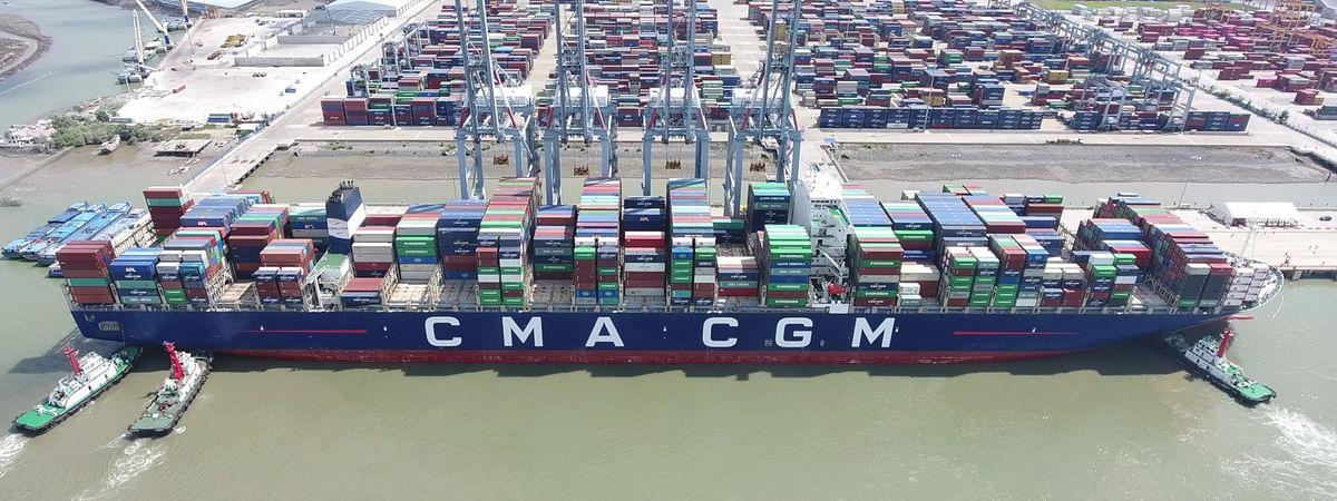 CMA CGM Marco Polo at berth