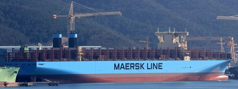Maastricht Maersk Makes Maiden Call to Rotterdam