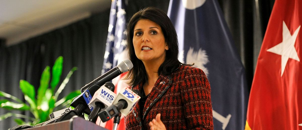 Former US ambassador to the UN, Niki Haley