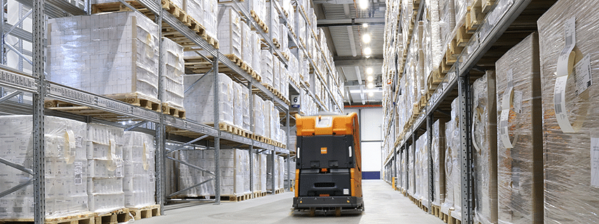 DSV Tests Robot in Pharma Warehouse