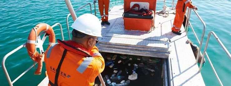 Abu Dhabi Ports Cleans Up  120 Tonnes of Floating Sea Debris