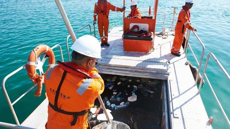 Abu Dhabi Ports Cleans Up  120 Tonnes of Floating Sea Debris