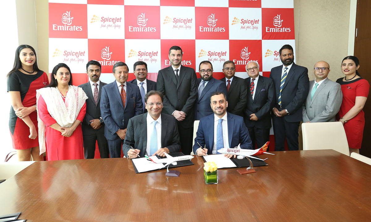 Emirates, SpiceJet Sign Codeshare Deal