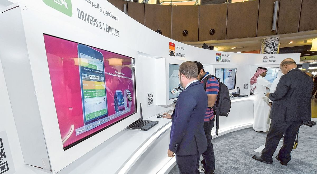 RTA smart services stand at Dubai Mall