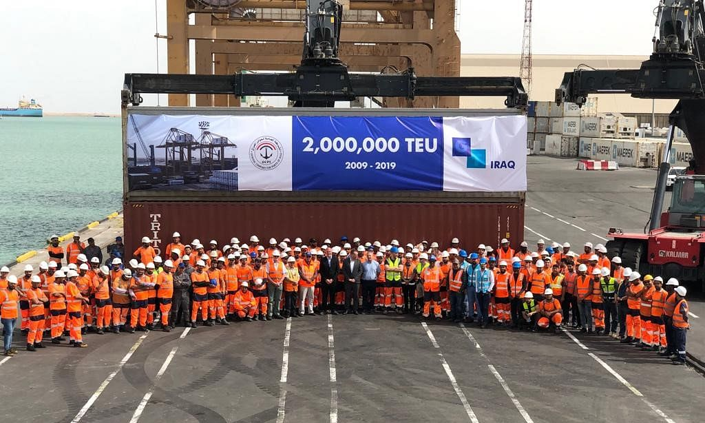 Gulftainer Handles Two Million TEU at Iraq Container Terminal