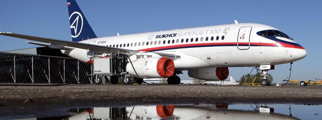 Aeroflot  Sukhoi SSJ100 Bursts into Flames Upon Landing