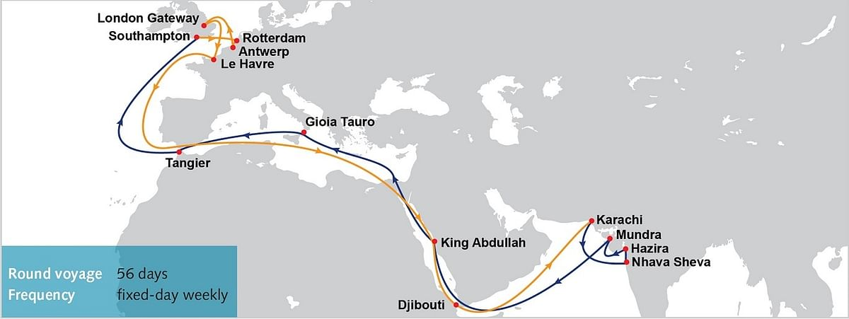 Middle East / Indian Subcontinent – North Europe Service IP1