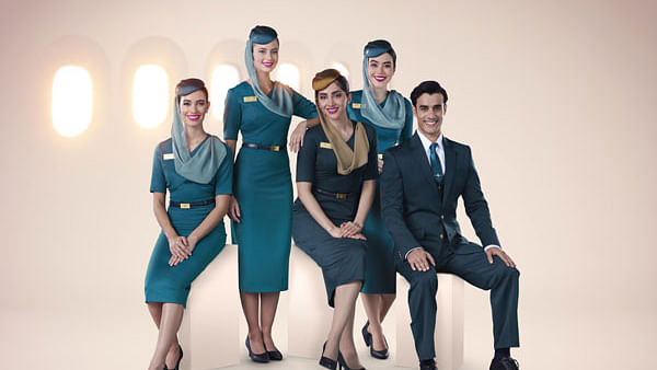 Oman Air Cabin Crew get Brand New Style Uniforms