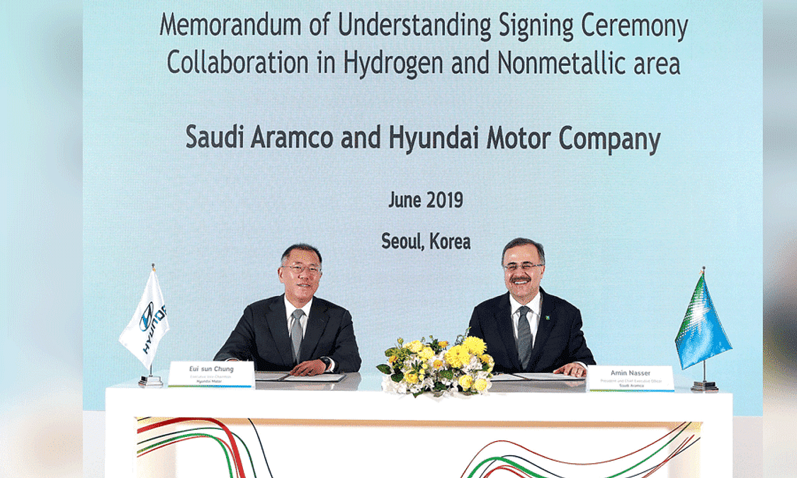 Hyundai Motor and Saudi Aramco to Collaborate on Hydrogen