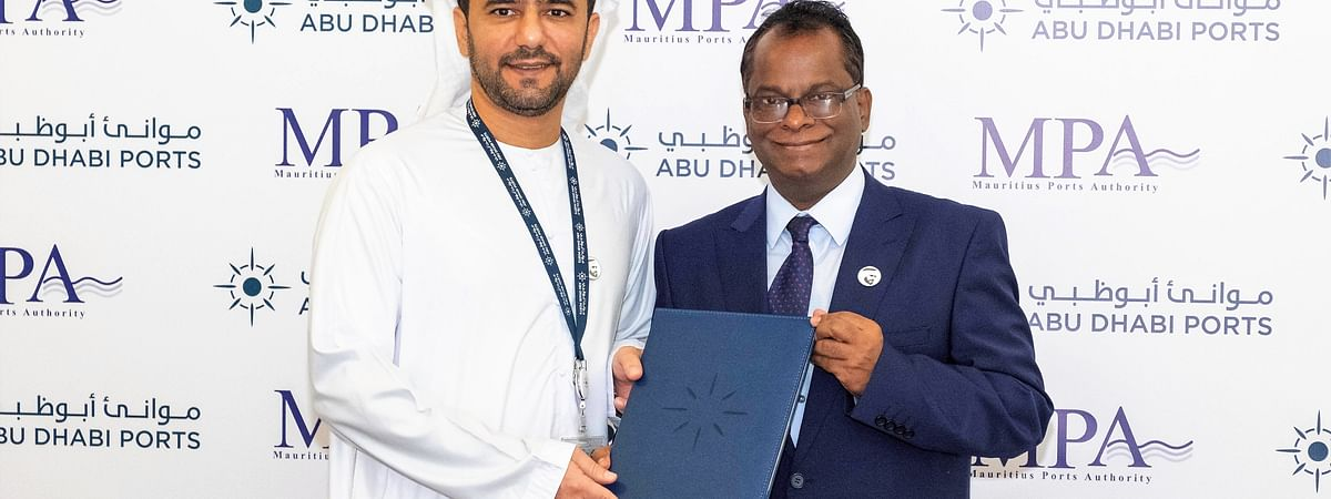 Abu Dhabi Ports Signs Deals with   Mauritius Ports Authority