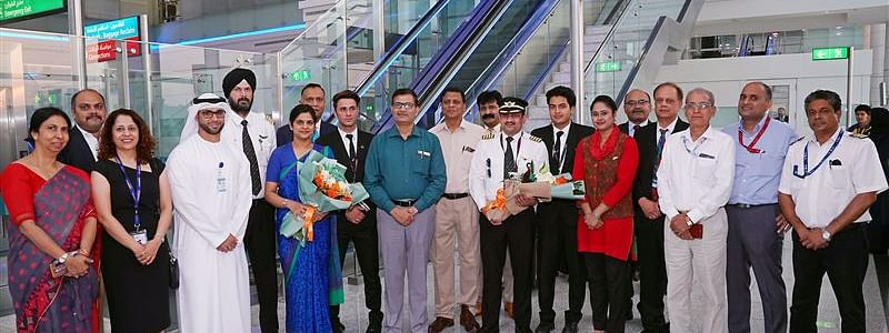 DXB Welcomes First Air India Flights from Indore  and Kolkatta