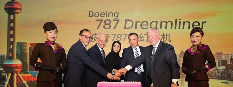 Etihad Celebrates Start of  Dreamliner Services to Shanghai