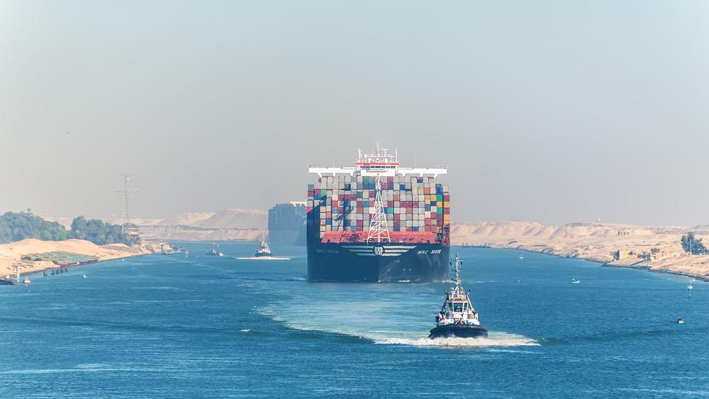 World's Largest Ship Makes Suez Debut