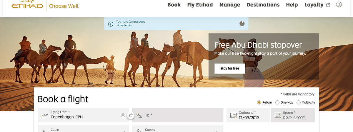 Etihad Airways Enhances Online Experience for Customers