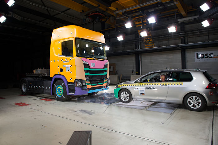 Scania vehicles go through rigorous safety and stress tests