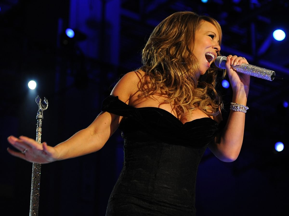 Singer Mariah Carey performed at the One Year to go Event