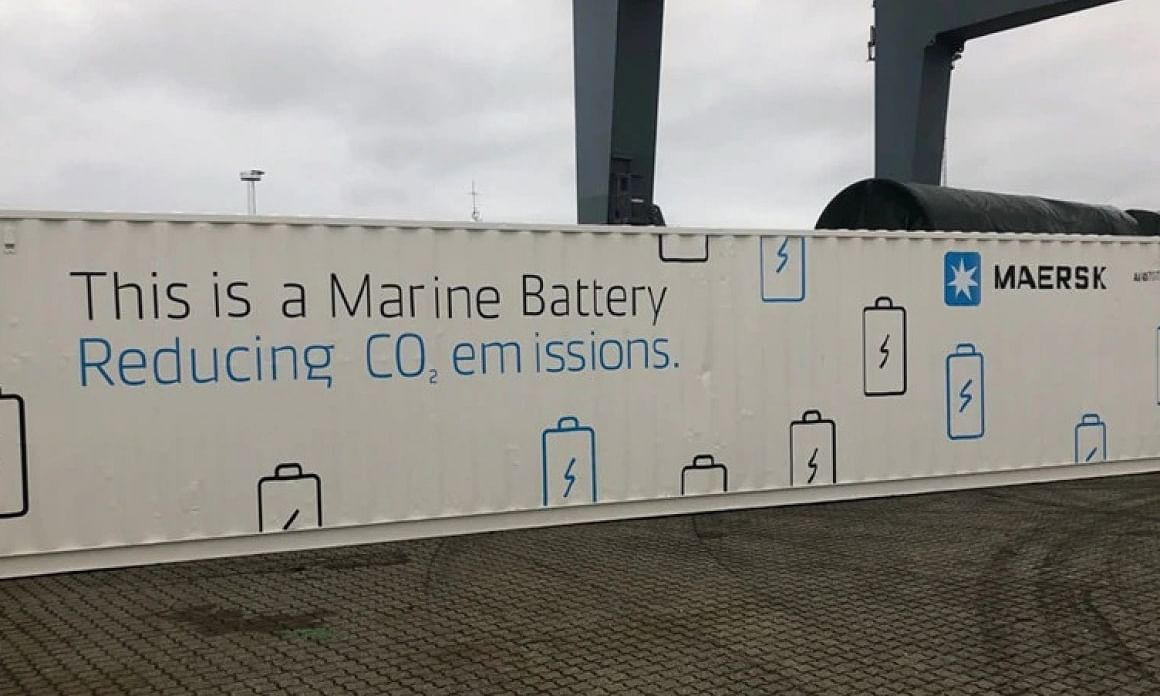 Maersk Pilot Next-Gen Green TEU Vessel Battery