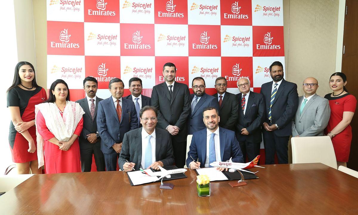 Emirates and SpiceJet Sign Codeshare Deal