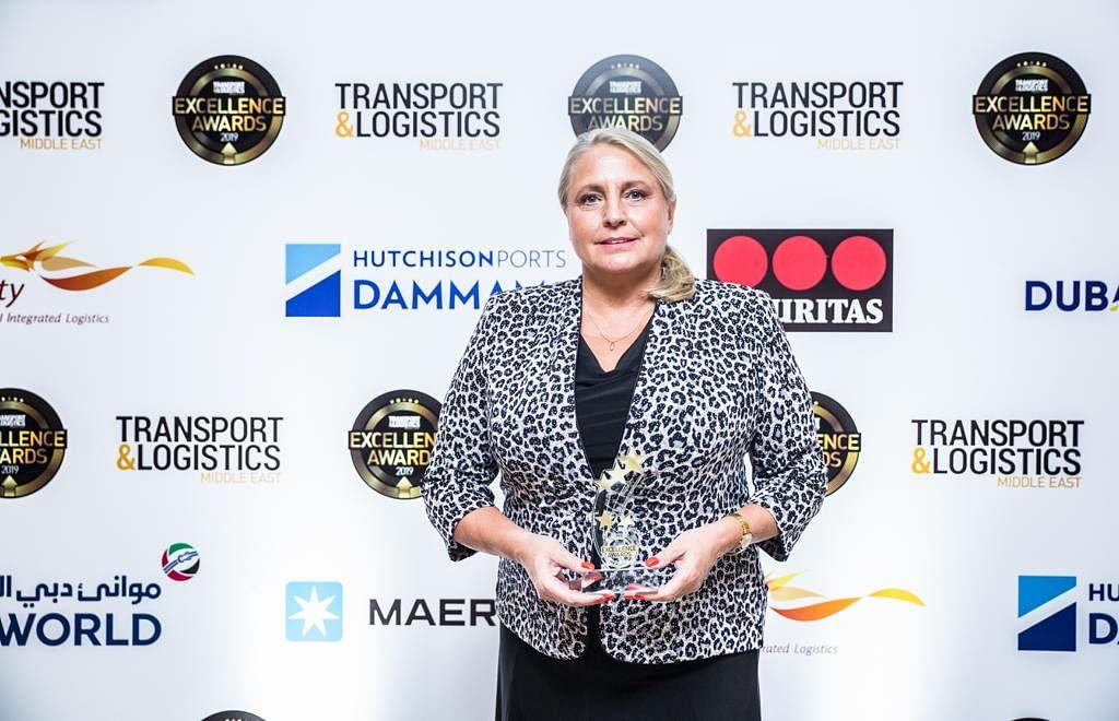 Marita Mitschein accepts the award