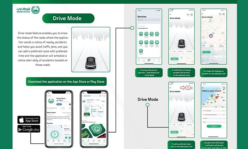 Drive Smart with Dubai Police App