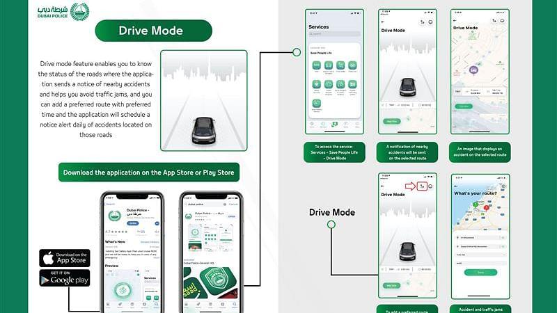 Drive Smart with Dubai Police App