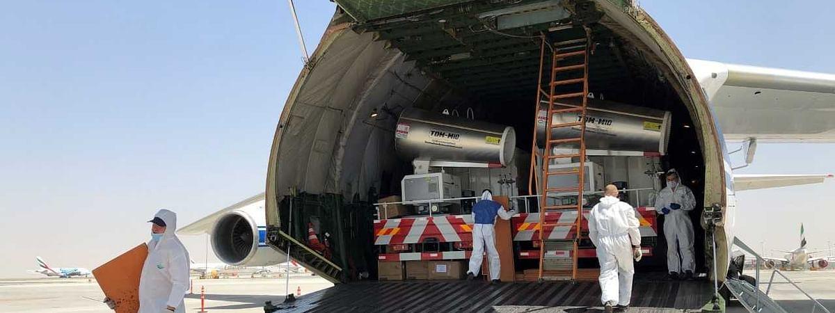 Volga-Dnepr Transports 48 Sterilisation Trucks Destined for Abu Dhabi