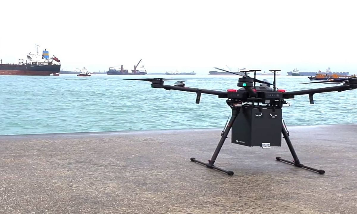 WATCH: First Commercial BVLOS Drone Delivery Made in Singapore