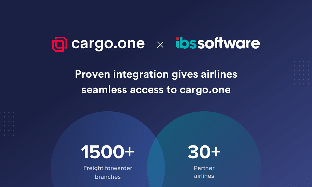 cargo.one and IBS S/w Partner to Provide Seamless Air Cargo Bookings