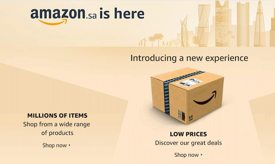 Amazon.sa Launched in Saudi Arabia