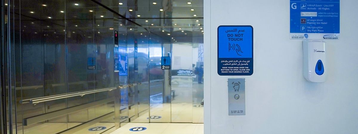 In a World-First, Abu Dhabi Airports Installs Touchless Elevators