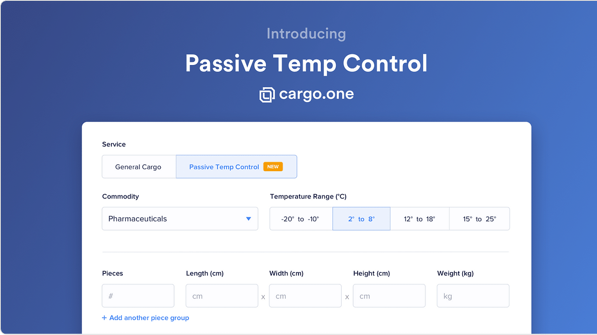 Cargo.one Launches Tool to Book Passively Cooled Air Shipments