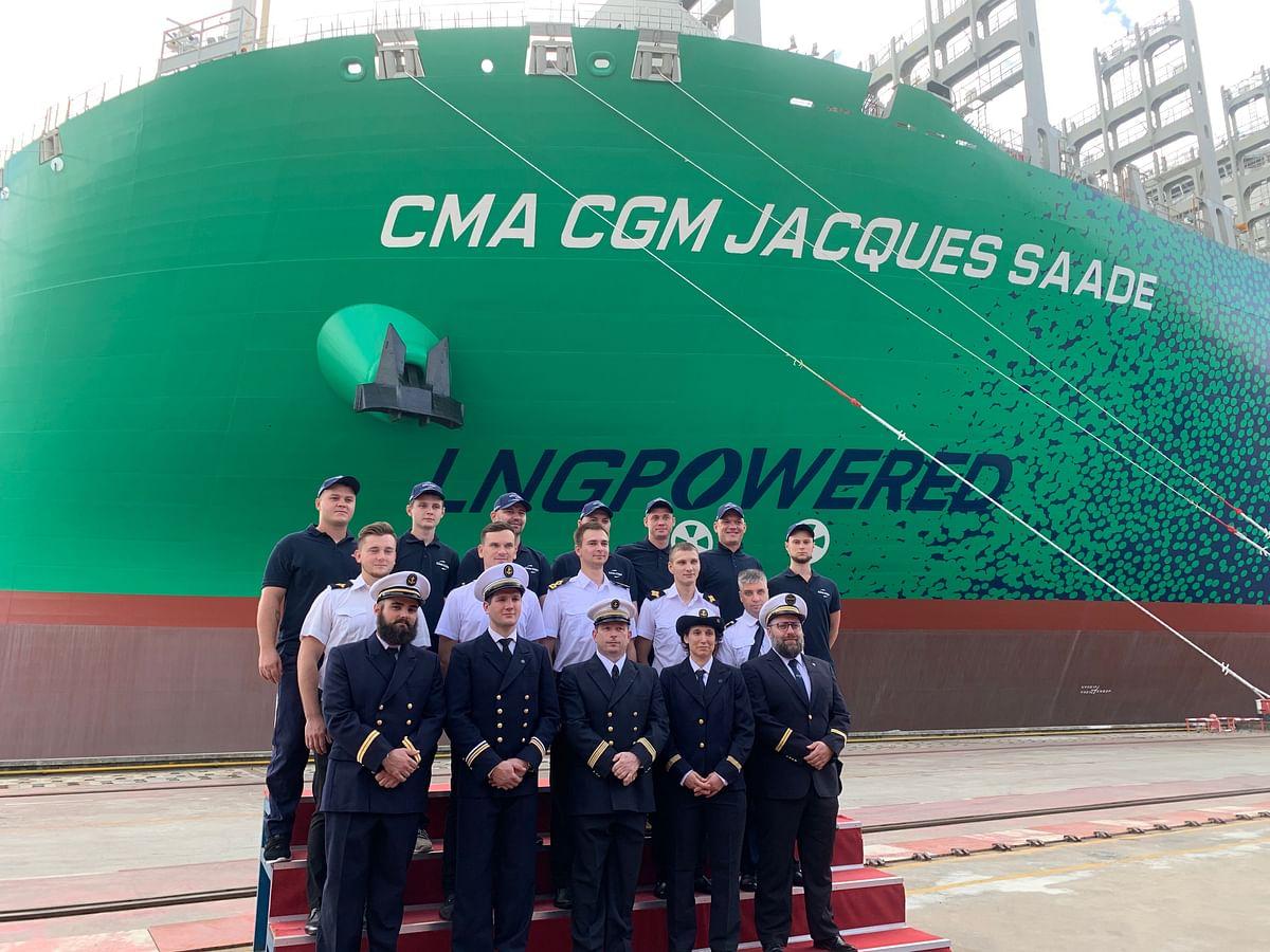 Mega Container Ship CMA CGM Jacques Saade Enters Service
