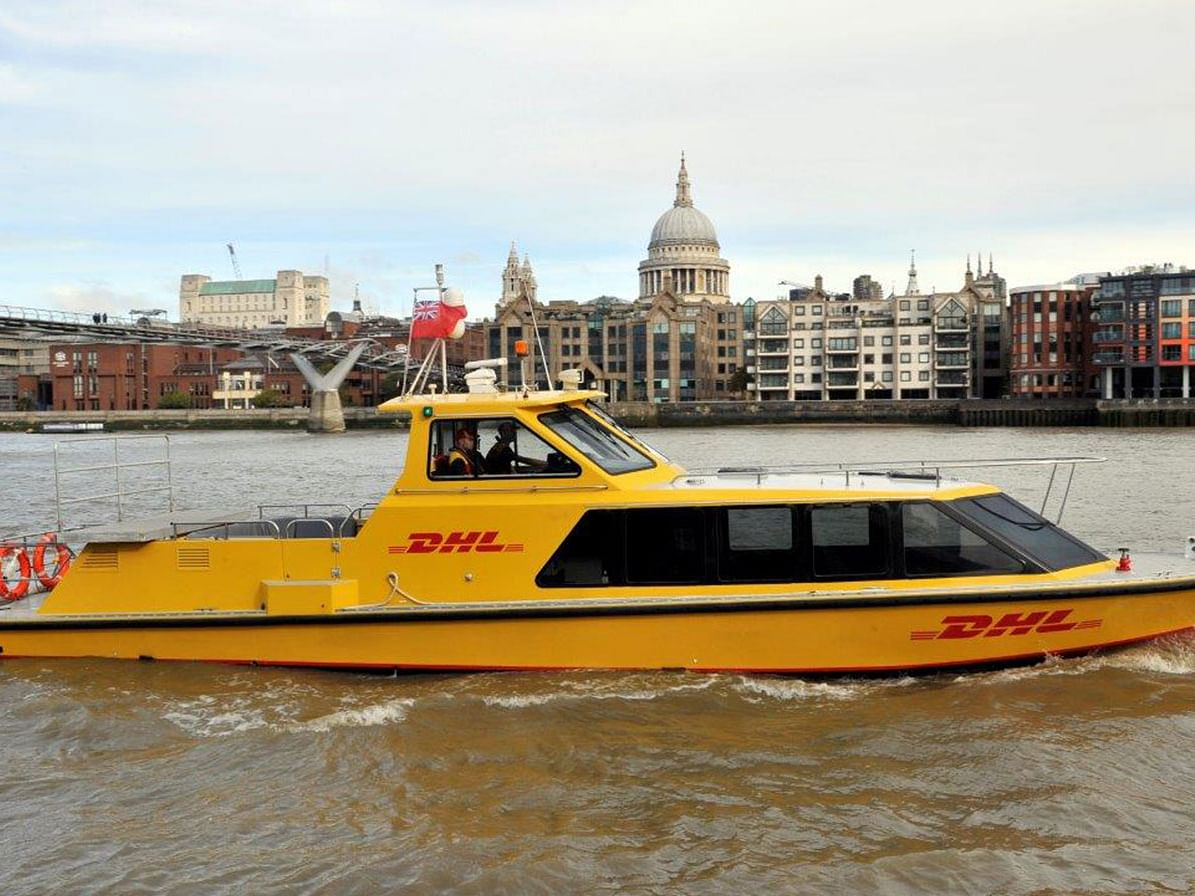 DHL Express Launches New Service in London with Riverboats