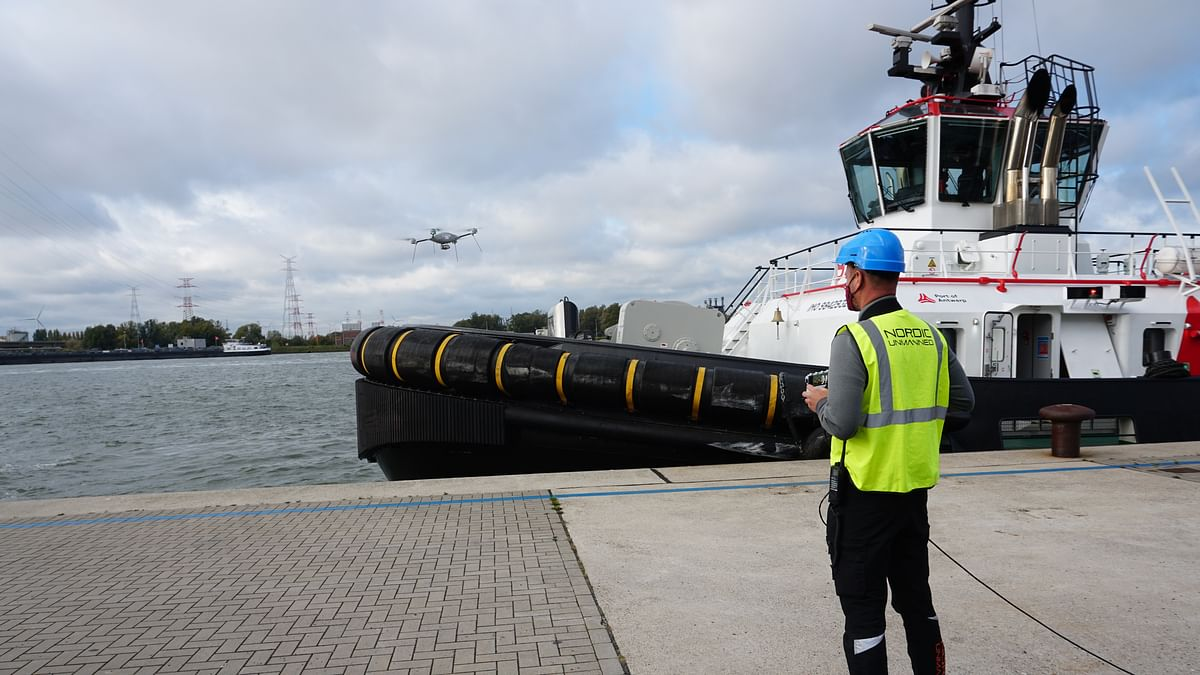 Drones to Help Port of Antwerp with Control Operations