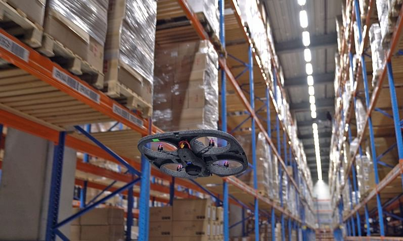 Watch: Autonomous Drones Help DSV Improve Warehouse Operations