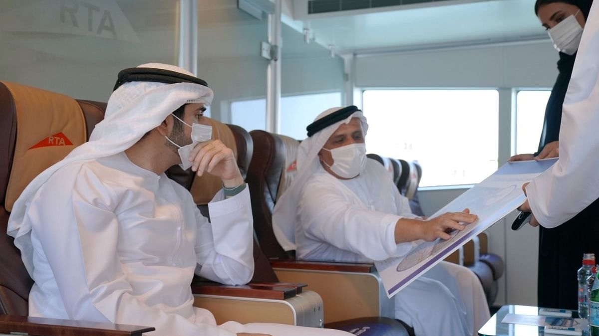 Hamdan bin Mohammed Inspects Progress of Shindagha Bridge Project