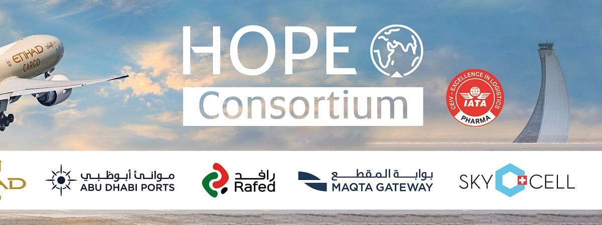 The Hope Consortium Flies COVID-19 Vaccine Doses into Abu Dhabi