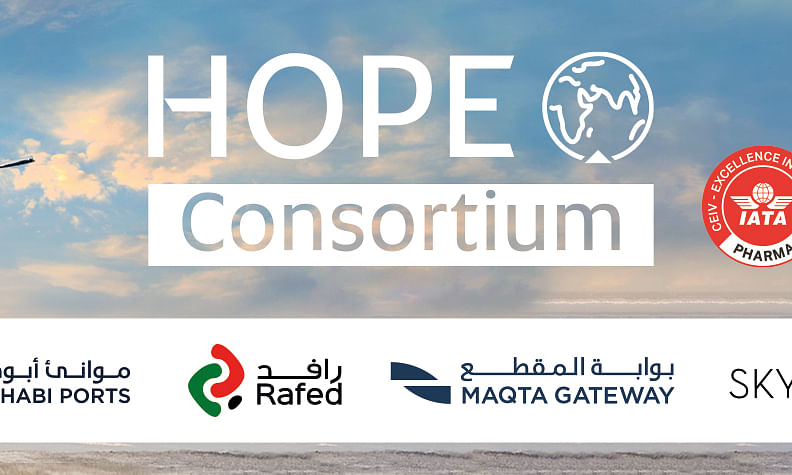 The Hope Consortium Flies COVID-19 Vaccine Doses into Abu Dhabi