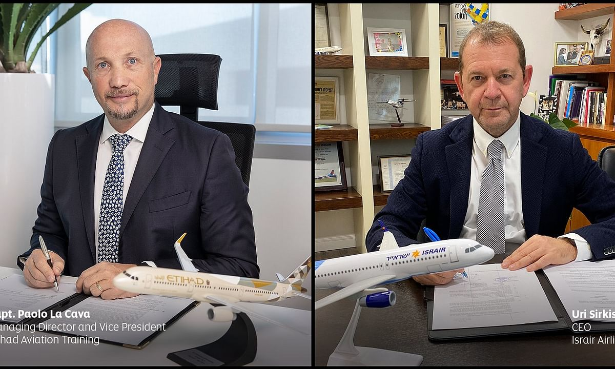 Etihad Aviation Training and Israir Airlines Sign Historic Contract