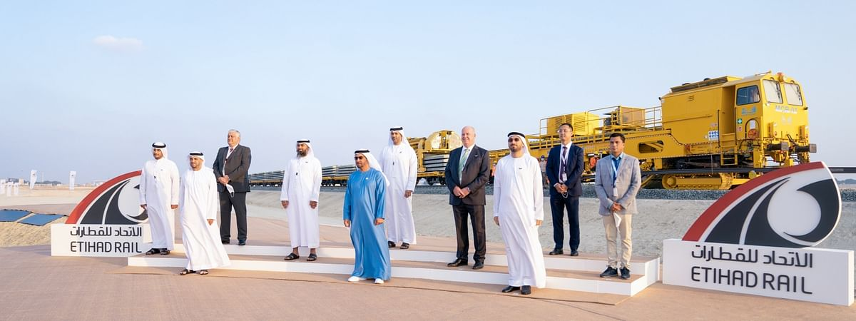 Sheikh Hamdan bin Zayed Inaugurates  Track Laying Works for Al Dhafra