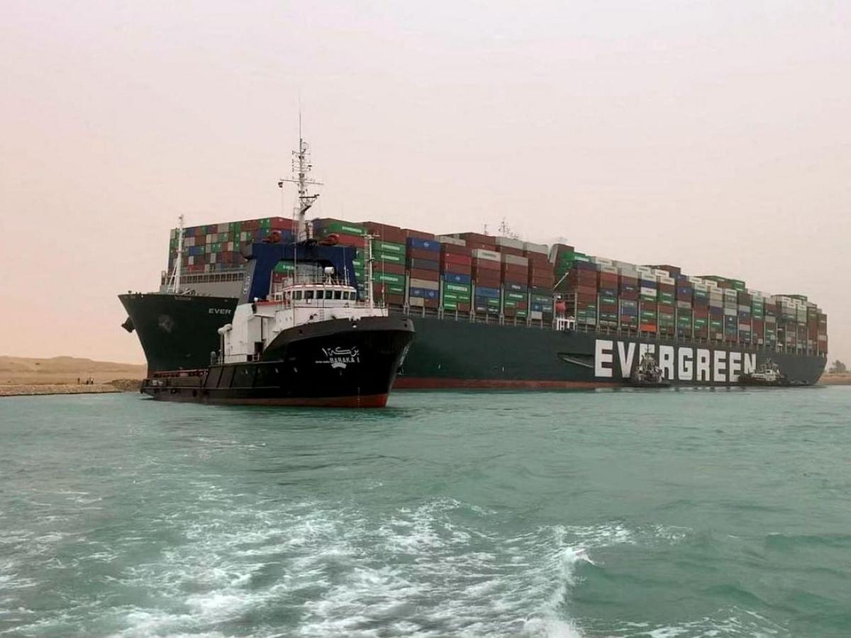 Massive Container Vessel Runs Aground in Suez Canal Blocking Traffic