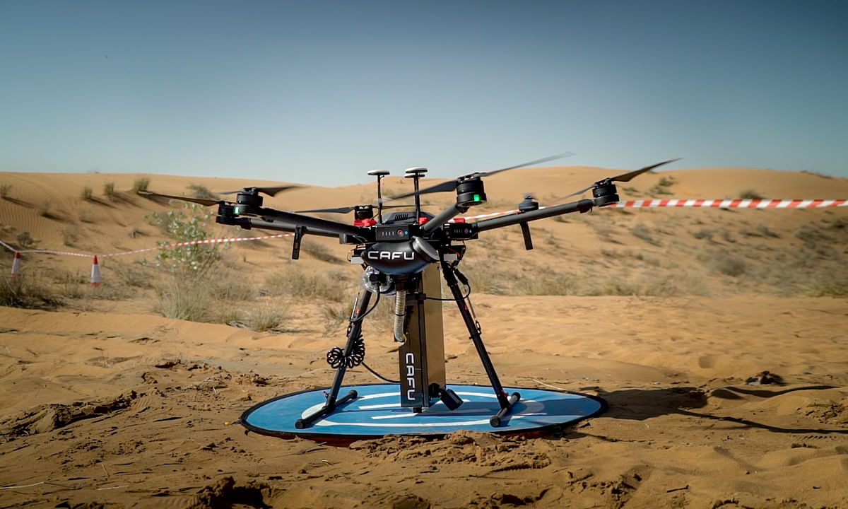 Dubai-born CAFU Reveals Drone Technology for Ghaf Tree Seed Planting