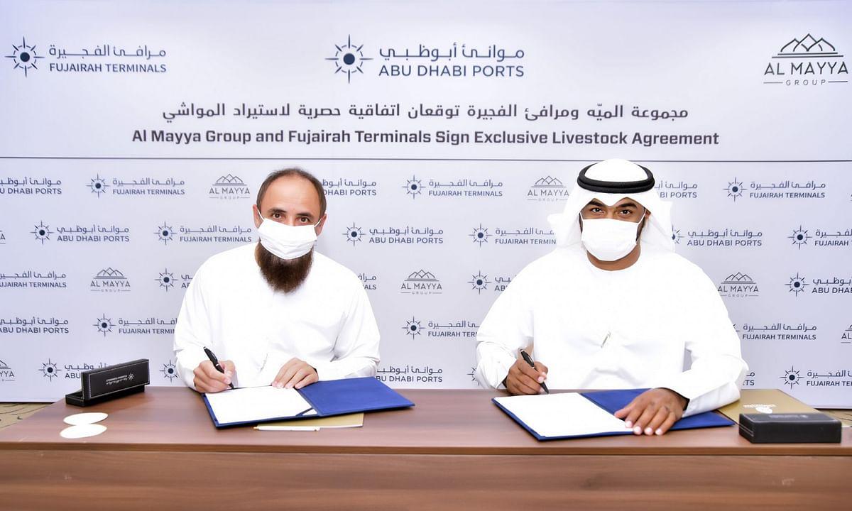 Fujairah Terminals, Al Mayya Group Sign Exclusive Livestock Agreement