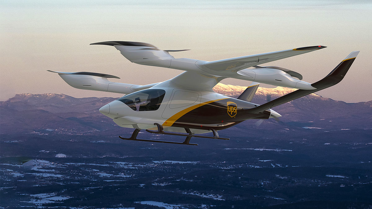 UPS Plans to Buy 150 Electric Vertical Takeoff and Landing Aircraft