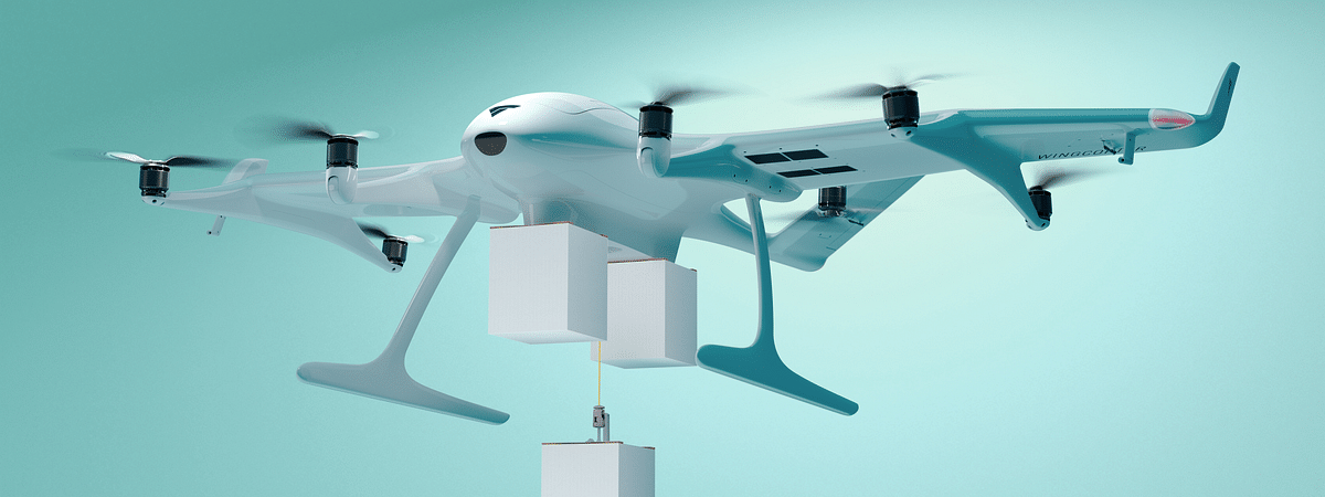 Wingcopter Launches World's First Triple-Drop Delivery Drone