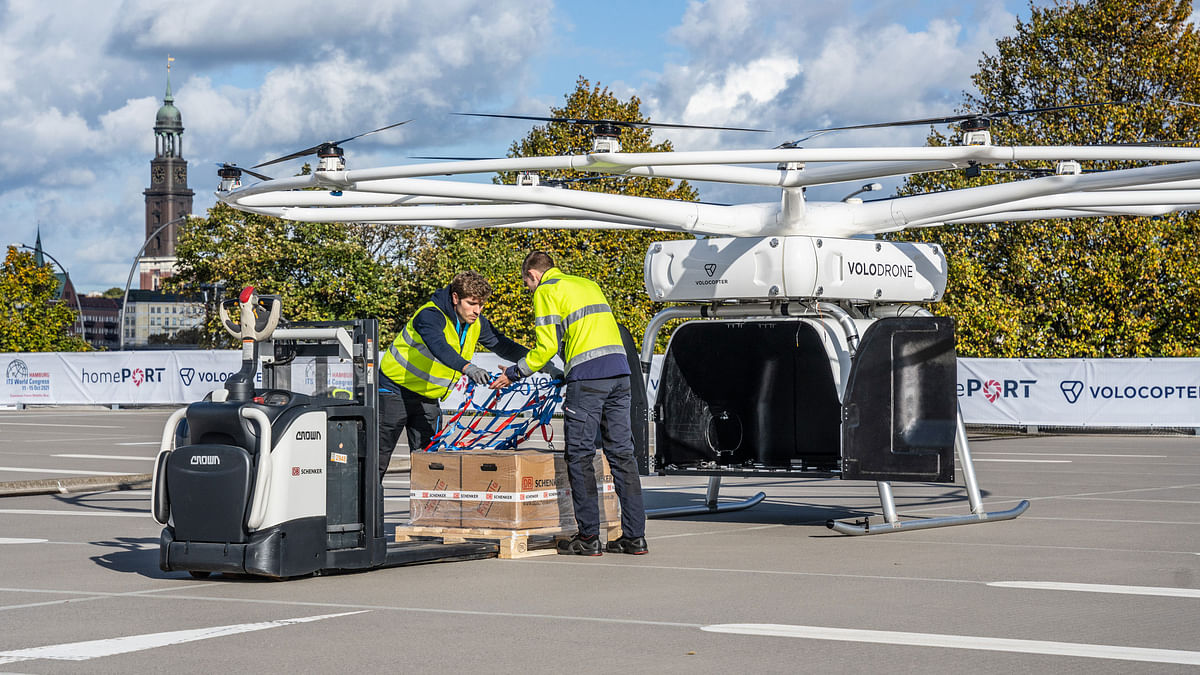 Watch: DB Schenker and Volocopter Successfully Test Heavy-Lift Drone