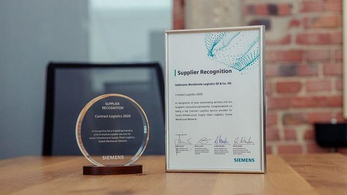 Hellmann Awarded Siemens Smart Infrastructure Supplier Recognition