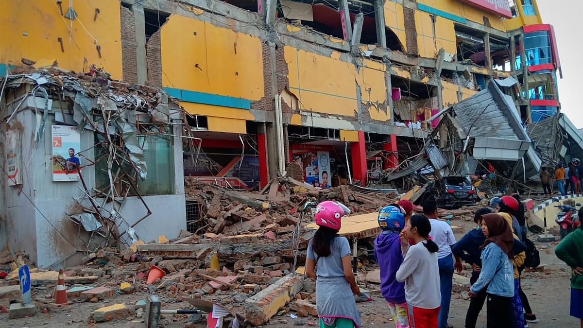 Indonesia after earthquake