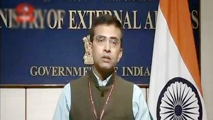 बैठक रद्द करने की घोषणा करते हुए विदेश मंत्रालय के प्रवक्ता रवीश कुमार