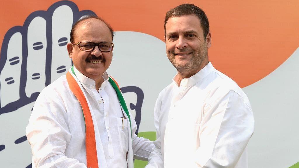 तारिक अनवर और कांग्रेसअध्यक्ष राहुल गांधी